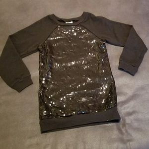 Shirts & Tops - Black Sequined Tunic Top Girls Size 6